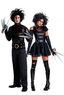 Halloween Gothic Paarkostüm schwarz-grau