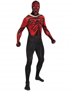 Star Wars™ Second Skin Suit Darth Maul Lizenzware schwarz-rot