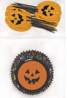 Halloween Cupcake Förmchen und Dekorationen