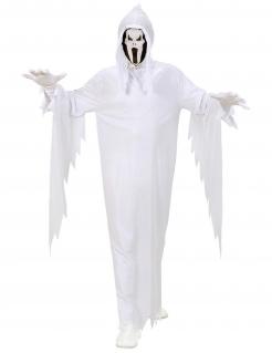 Schreiender Geist Halloween-Herrenkostüm weiss