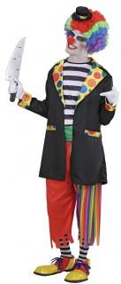 Psycho Clown Halloweenkostüm schwarz-bunt