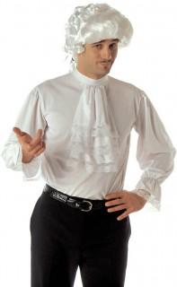 Barock Rüschenhemd für Herren M/L weiss