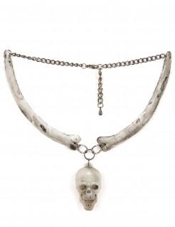 Skelett-Kette für Erwachsene Halloween beige