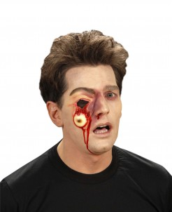 Herausgerissenes Auge Latex-Applikation haut-rot