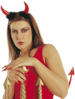 Rote Teufelshörner für Erwachsene Halloween rot
