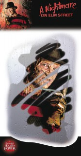 Klebedekoration Beschlagener Spiegel mit Freddy Krueger