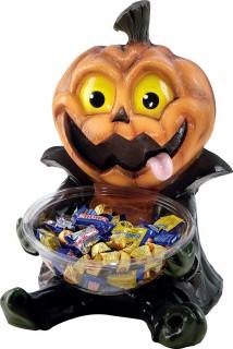 Kürbis Bonbon-Schale Halloween schwarz-orange-gelb