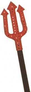 Halloween Teufelsgabel mit Pailletten Kostümzubehör schwarz-rot