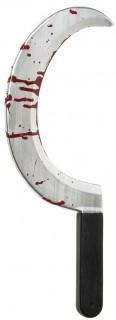 Blutige Sichel silber-schwarz-rot 45cm