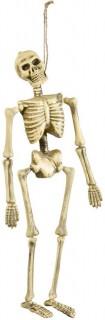 Skelett Halloween Hänge-Deko beige 40cm