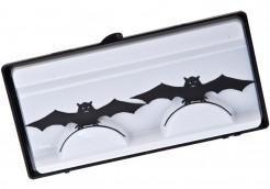 Falsche Wimpern mit Fledermäusen Halloween Kostüm-Accessoire schwarz