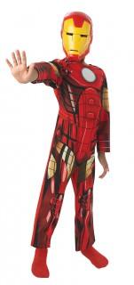 Klassisches Iron Man™-Kinderkostüm rot-gelb-schwarz