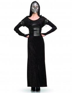 Bellatrix Lestrange™-Kostüm Harry Potter™ Lizenzkostüm schwarz-silber