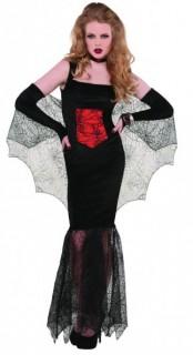 Verruchte Vampirin Halloween-Damenkostüm schwarz-rot