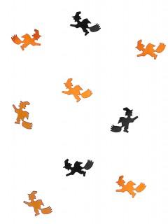 Halloween Konfetti Hexen Motiv schwarz-orange