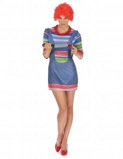 Sexy Horrorpuppe Halloween Kostüm für Damen bunt