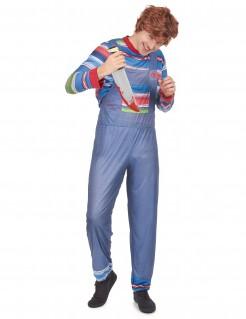 Blutrünstige Horrorpuppe Halloween Kostüm für Männer bunt