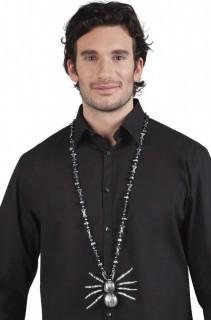 Gothic Hexe Halskette Spinne silber