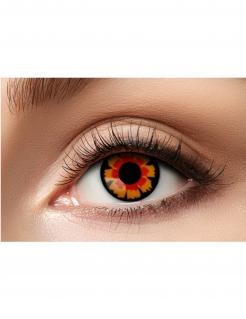 Vampir-Kontaktlinsen Halloween-Kontaktlinsen rot-schwarz