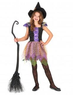 Süsse Hexe-Kinderkostüm Halloween bunt