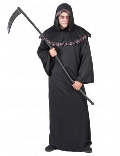 Dunkler Mönch Sensenmann-Kostüm schwarz