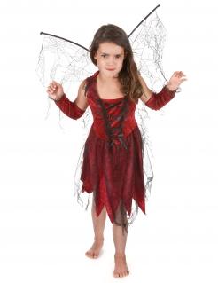 Böse Fee Halloween-Kinderkostüm rot-schwarz