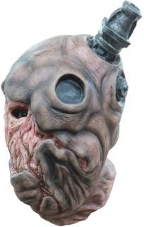Zombie-Monster mit Ventil Horror-Maske für Halloween Frankenstein