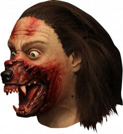 Hemlock Grove Werwolf Maske hautfarben-rot
