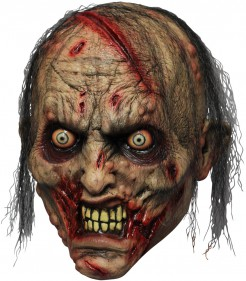 Maske Beißender Zombie für Erwachsene - Hand bemalt