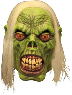 Maske grüner Zombie - Hand bemalt