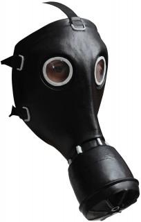 Schwarze Gasmaske schwarz