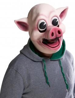 Handbemalte Horror-Schweinemaske rosa