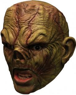 Nasenloses Horror-Monster Maske grün-rot