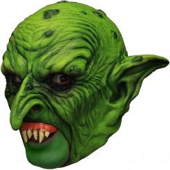 Gnom-Maske mit falschen Zähnen grün