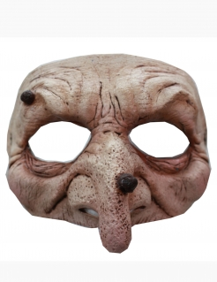Hexe Damen-Augenmaske Halloween hautfarben