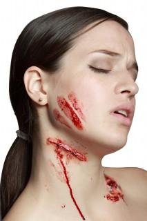Verletzung Schnittwunde Latex-Applikation hautfarben