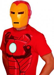 Iron Man™ Lizenzmaske für Erwachsene rot-gelb