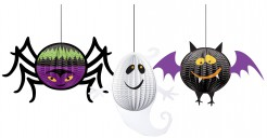 Halloween Kinderparty Wabendeko 3-teilig bunt 20cm