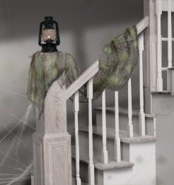 Gruseliges Leichentuch Drapiertuch Halloween Party-Deko grau-grün 61x405cm