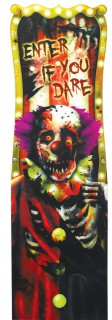 Horror-Clown Hologramm Halloween Party-Deko bunt 94x30cm