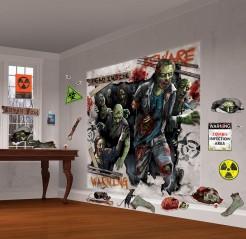 Schaurige Zombies Halloween Mega Deko-Set 32-teilig bunt