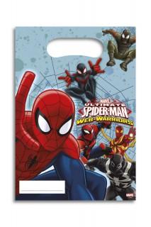 Spiderman™-Geschenktüten Deko 6 Stück bunt 16,5x23cm