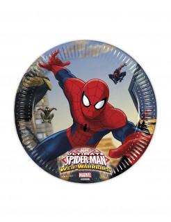 Ultimate Spider-Man Web Warriors™ Pappteller 8 Stück bunt 20 cm