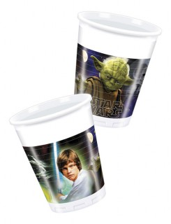 Star Wars™ Plastikbecher-Set 8 Stück bunt 9cm