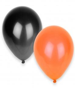 Halloween-Ballons Luftballons 100 Stück schwarz-orange