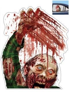 Autoaufkleber mit blutigem Zombiemotiv 30x43cm