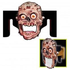 Zombie-Toilettenpapierspender Halloweendeko für das Badezimmer schwarz-braun 27x36cm