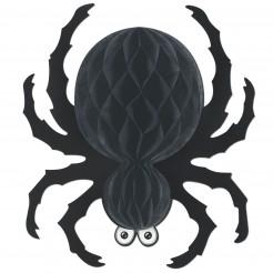 Freche Wabenspinne Halloween-Hängedeko schwarz 46cm