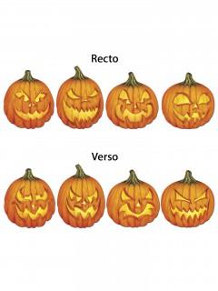 Kürbis-Cutouts Halloweendeko 4 Stück orange