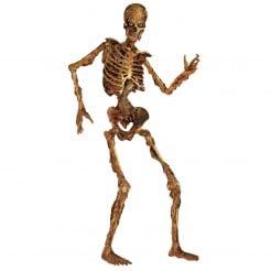 Gelenkiges Skelett im verwesten Zustand Halloween-Deko 180 cm